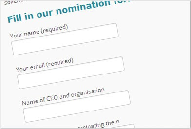 Nominate a charity CEO